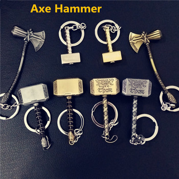 Movie Super Hero Axe Hammer Series Key Chain Stormbreaker handmade Rope Alloy Keychain For Movie Lovers Souvenir Gifts image