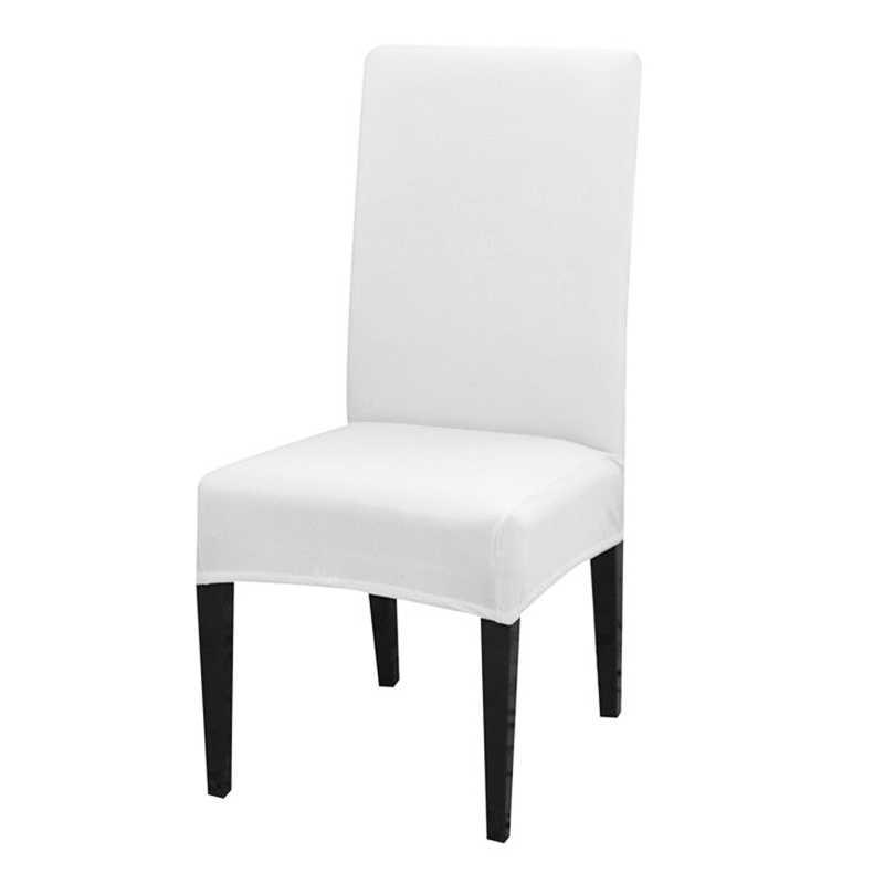 ソリッドカラーのスパンデックス椅子カバーストレッチダイニングルームシートカバー弾性椅子保護ケースレストラン結婚式の宴会