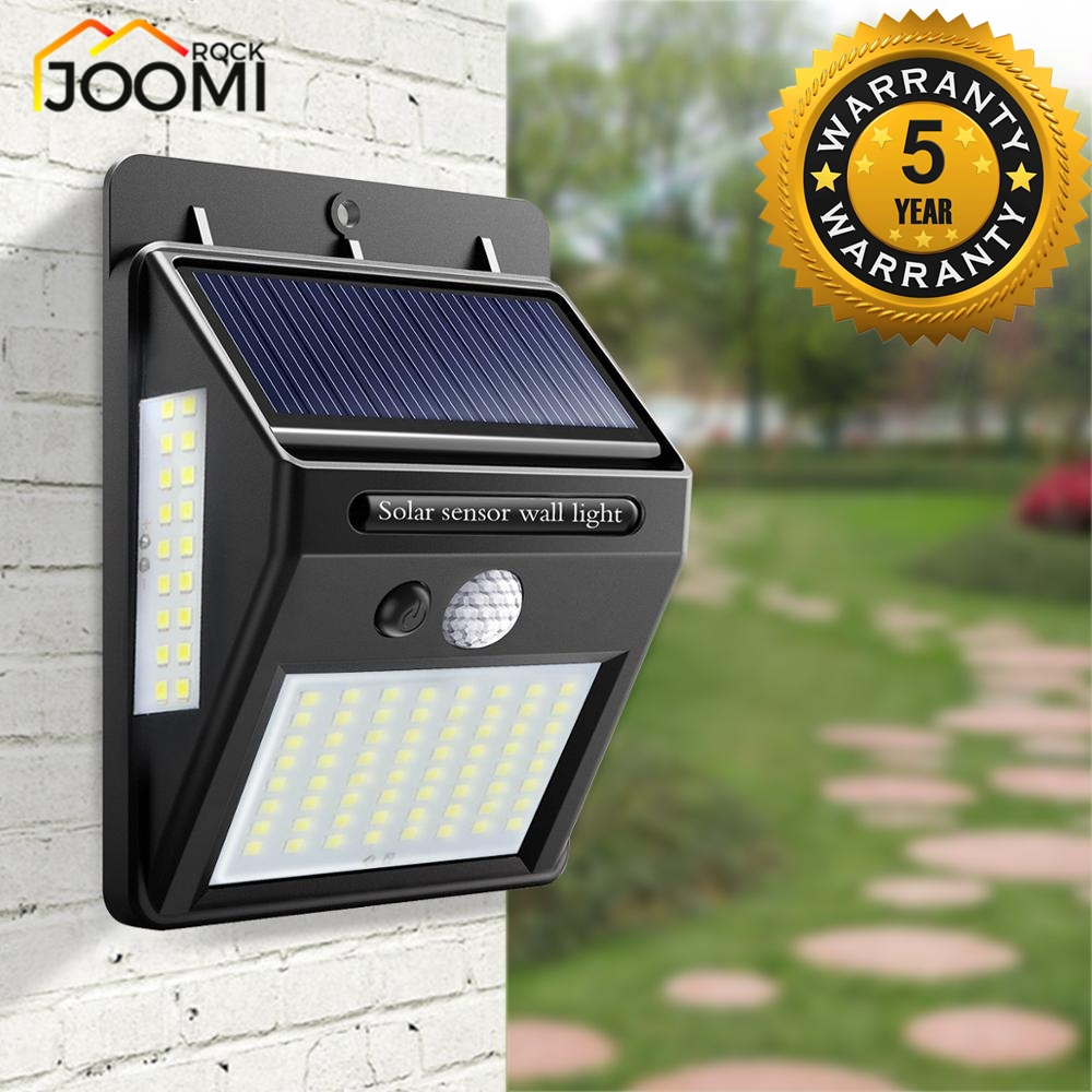 Street lamp 100 LEDS Outdoor Solar LED Street Light lamp with motion sensor lights plaza Garden Fence Emergency Lighting