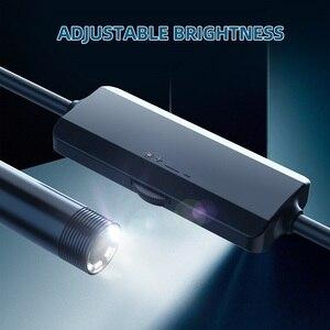 Image 5 - F150 WIFI endoscopio telecamera HD1200P impermeabile Hard soft Wire Wireless 8mm 8LED Mini Borescope Camera per Iphone telefoni Android
