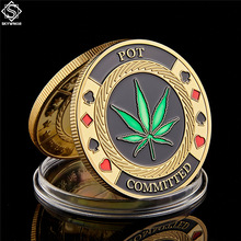Poker-Chip Token Coin-Collection Challenge Metal Gold Personalized Casino POT Committed