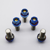 hot sale Titanium alloy material M14*1.5*28 blue bolt for Benz