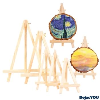 Drewniany wyświetlacz Mini mała sztaluga statyw teleskopowy mała sztaluga nowa ramka na zdjęcia sztaluga rama uchwyt trójkątny uchwyt na telefon komórkowy tanie i dobre opinie CN (pochodzenie)