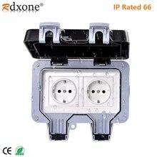 Rdxone IP66 Waterdichte Outlet 16A Stopcontact Voor Tuin, Garage