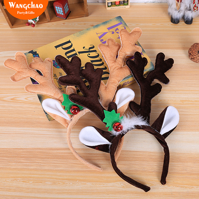 12 x REINDEER ANTLERS HEADBAND CHRISTMAS PARTY NOVELTY HAT SANTA STOCKING FILLER