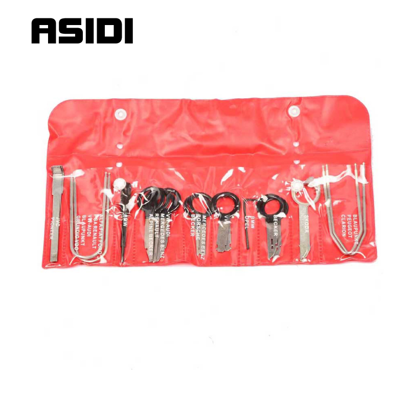 Stereo Radio Removal Tool Kit Key Repair Tool Set For Ford/VW/Audi/Mercedes/BMW  PT1038