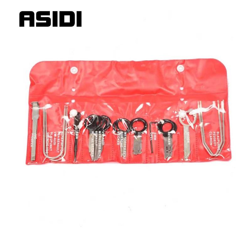 Stereo Radio Removal Tool Kit Key Repair Tool Set For Ford/VW/Audi/Mercedes/BMW  PT1038