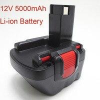 12V 5.0Ah Li ion Rechargeable Battery for Bosch cordless Electric drill screwdriver BAT139 BAT043 BAT045 BAT046 BAT049 BAT120