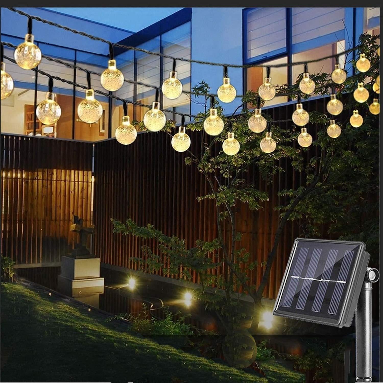 Dcoo Bola Globo de Iluminação Corda Ao Ar Livre Movido A Energia Solar Luzes 30 LED Sloar Corda Do Partido Luzes Da Corda Solares pisca pisca natal decoração iluminação globo de luz cortina de led