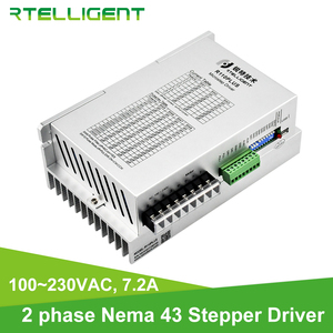 Rtelligent 2 Phase Nema 43 High Voltage Digital Stepper Motor Driver with USB Port 100~230VAC 7.2A for 110mm Stepper Motor(China)
