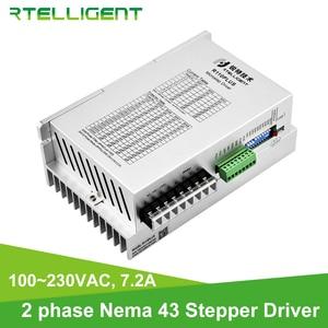Rtelligent 2 Phase Nema 43 High Voltage Digital Stepper Motor Driver with USB Port 100~230VAC 7.2A for 110mm Stepper Motor(China)
