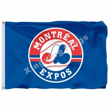 Montreal Expos Flagge 3ft X 5ft Polyester Montreal Expos Banner Fliegen No.4 Größe 4 90X150cm Custom Flagge(China)