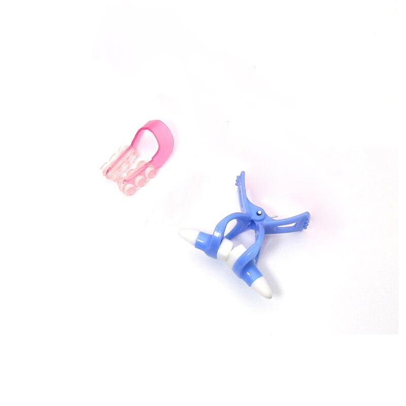 Nariz mágico shaper modelagem ponte de elevação endireitamento face lift nariz up clipe facial clipper beleza ferramenta bule + vermelho
