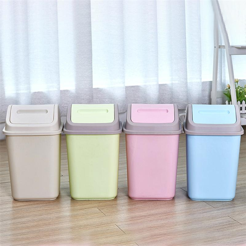 1Pc Trash Can Litter Waste Container Debris Storage Household Dustbins Cleaning Bucket Garbage Box for Bedroom Kicthen Home