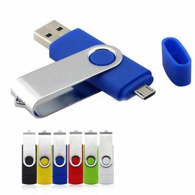 OTG USB Flash Drive 64GB 32GB 16GB 8GB Ad Alta Velocità In Metallo USB otg Pen Drive 128gb di Memoria pendrive del Bastone per smartphone/PC 2 in 1