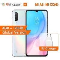 En Stock versión Global Xiaomi mi A3 mi A3 4GB 128GB 32MP + 48MP cámara del teléfono móvil 4030mAh Snapdragon 665 Octa Core 6.088 AMOLED