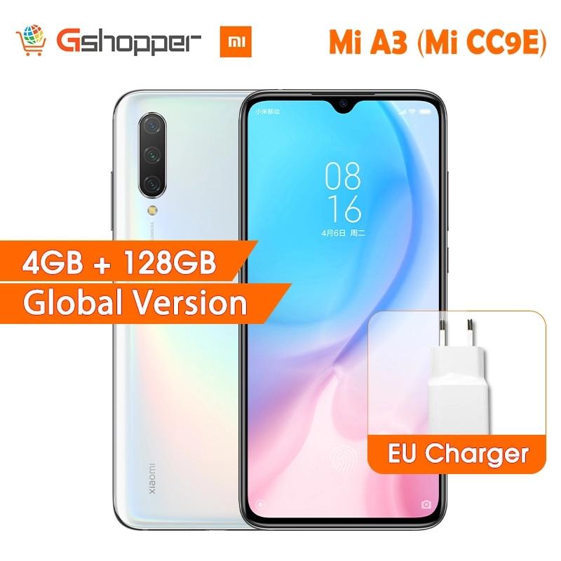 "In Stock Global Version Xiaomi Mi A3 MiA3 4GB 128GB 32MP+48MP Camera 4030mAh Mobile Phone Snapdragon 665 Octa Core 6.088"" AMOLED"