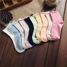Ms candy color strongly confined socks socks in the tube of pregnant women socks wide mouth ins tide Japanese sen