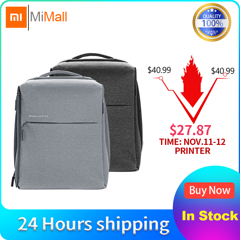 Xiaomi Mijia Youpin mode Xiaomi minimaliste urbain sac à dos sac voyage affaires loisirs sac à dos 295*350*190mm 330g