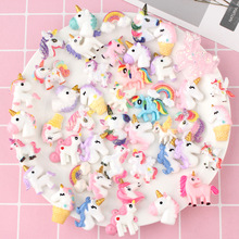 New Addition Slime Supplies Accessories Unicorn Model for Charm Lizun Kit Filler Toddler Kids Toys Decoration Gift E