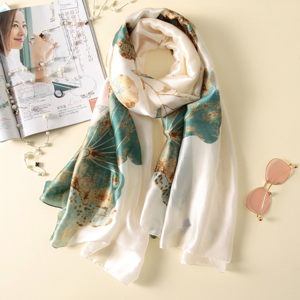 Women's <font><b>Silk</b></font> <font><b>Scarf</b></font> Beach <font><b>Scarf</b></font> And Echarpe Luxury Wrap Designer <font><b>Scarves</b></font> Female Beach Stole Bandana Print Hijab Wraps Clearance image