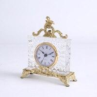 Table Watch Desk Clock Cube Table Sleep Trainer Crystal Luxury Senior Alarm Clock Quiet Vintage Reveil Square Quartz Movement E6