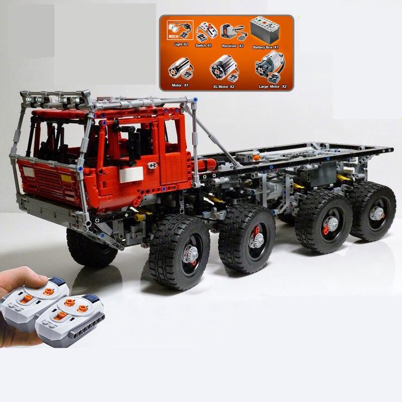 En Stock DHL 23012 piezas Serie Técnica auténtica de 2839 piezas el camión de remolque Arakawa Moc Tatra 813 bloques educativos de construcción de ladrillos A