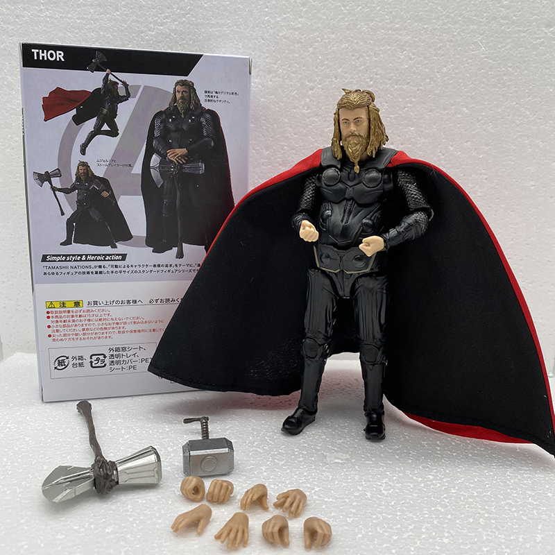 SHF Thor Figure Movie Endgame Infinity War 4 Marvel Hero Thor Action Figure Figuarts Model Toy Doll Gift image