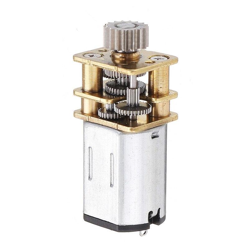 DC 12V 67RPM режущий редуктор металлический редуктор микроэлектропривод для 3D ручки для рисования 12 мм редуктор N20 Шестерня ed мотор с проволокой ...