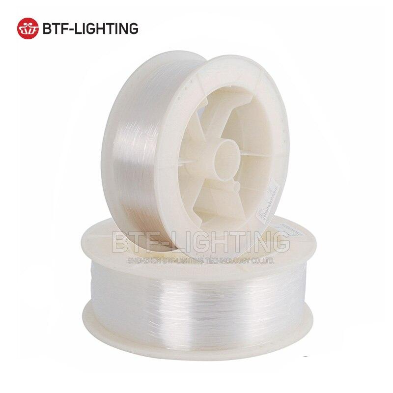 Оптоволоконный кабель 0,25/0,5/0,75/1,0/1,5/2,5/3,0/5,0/8,0 мм Диаметр PMMA LED End/Side Glow Flash Point для украшения освещения