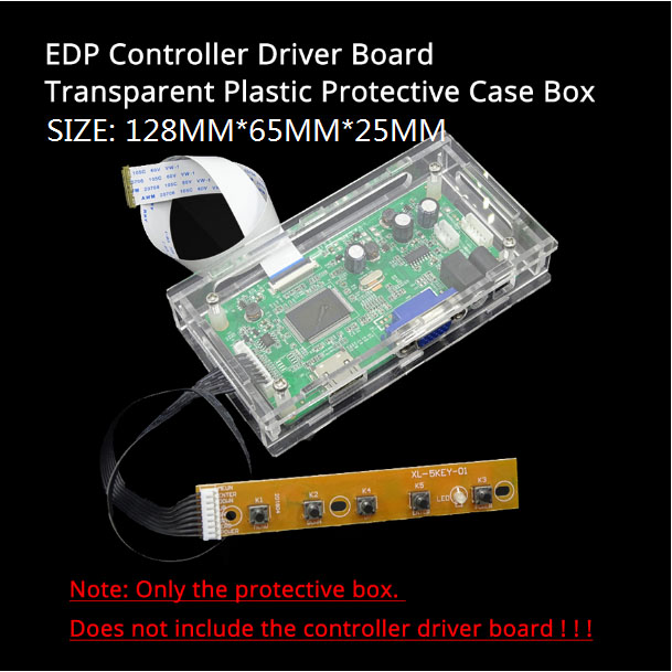 LED/LCD controller driver board transparent Acrylic protective box case For our M.NT68676 TV 2AV EDP controller driver board 3