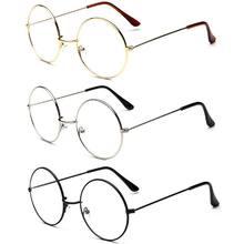 Duża, ponadgabarytowa metalowa ramka przezroczyste soczewki okrągłe kółko okulary okrągłe metalowe przezroczyste soczewki okulary rama Unisex koło okulary
