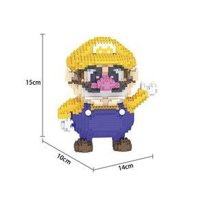 Image 2 - Bloques de construcción de figuras de super Mario bros para niños, juguete de piezas de bloques de Lepining, Wario, Yoshi, Waluigi, Luigi, mini micro diamante