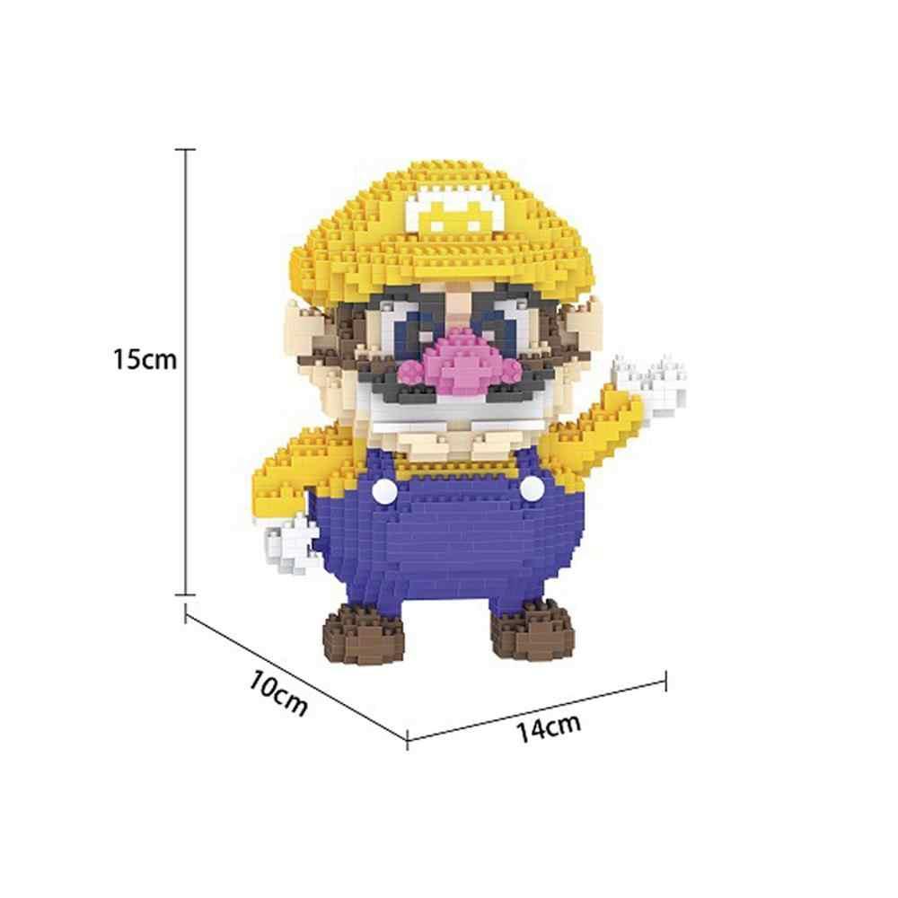 Hot Lepining Classico creatore giappone super marios bros bee figure Wario Yoshi Waluigi Luigi mini micro blocchi di diamante mattoni giocattoli