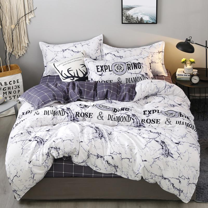 White Black Gray Duvet Cover