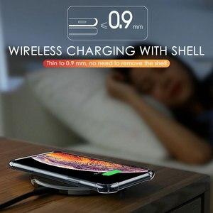 Image 3 - Di Lusso Antiurto Cassa Del Telefono Del Silicone per Iphone 7 8 6 6S Plus X Xs Max Iphone 11 Pro Max Custodie trasparente di Protezione Posteriore Cove