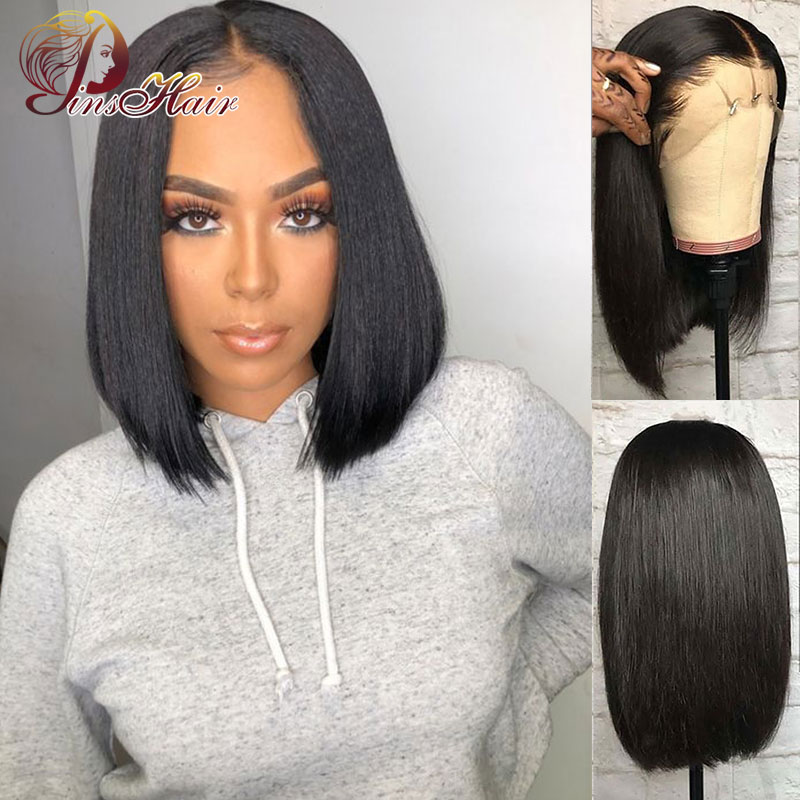 Peruvian Natural Color Bob Wigs 13*4 Straight Hair Wigs Lace Front Human Hair Wigs 8