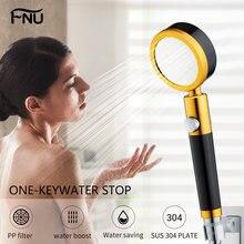 Ручной металлический фильтр для душа ванной комнаты прочный