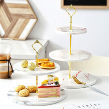 Cake-Stand Dessert Wedding Birthday-Candy Luxury Ceramic No Nordic Snack-Rack Marble