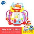 Baby Speelgoed Muzikale Activiteit Cube Spelen Centrum Speelgoed met 15 Functies & Vaardigheden Leren Educatief Speelgoed voor Kinderen Gift