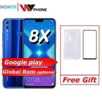Global Rom Huawe Honor 8X6,5 Pantalla completa actualización de OTA teléfono inteligente no 8x max teléfono móvil Android 8,1 octa Core huella dactilar ID