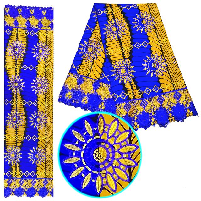 Super Sale 55f5 Wax Africain Lace Embroidery African Wax Lace 2020 French Nigerian Lace Fabrics High Quality For Women Dress 6 Yards Cicig Co