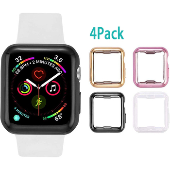 цена на TPU all-inclusive protective shell Case For Apple Watch Series 5 4 3 2 1 40mm 44mm Luxury Cover Shell 42mm Perfect Match Bumper