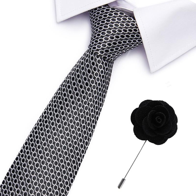Neckties Men's Stripe Blue Formal Dress Wedding Ties Jacquard Woven 100% Silk Men Business Neck Ties Accessories Men Ties
