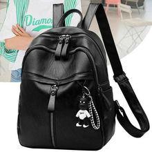 On sale New 2019 Women ladies PU Leather small Backpacks for Teenage Girls Female School Shoulder