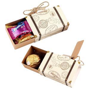 Image 4 - Ourwarm mala de doces, malas com tema clássico para viagem, caixa de presente para aniversário e casamento, caixas de lembrancinhas, 10/peças