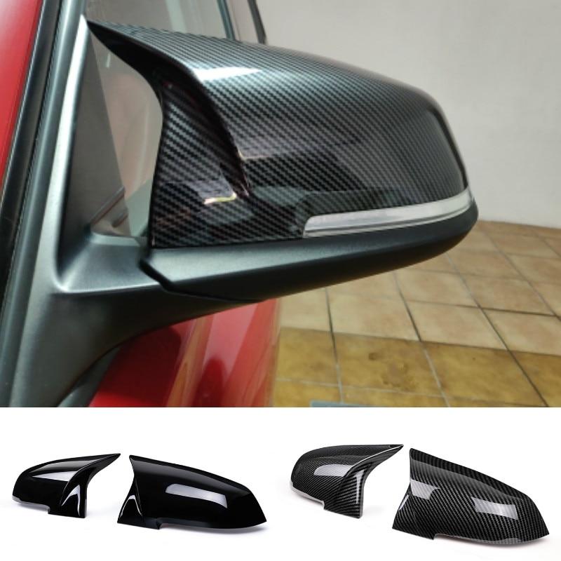 Чехол для бокового зеркала заднего вида BMW 1 2 3 4 X Series F20 F21 F22 F23 F30 F32 F36 X1 E84 F87 M2 аксессуары с узором из углеродного волокна