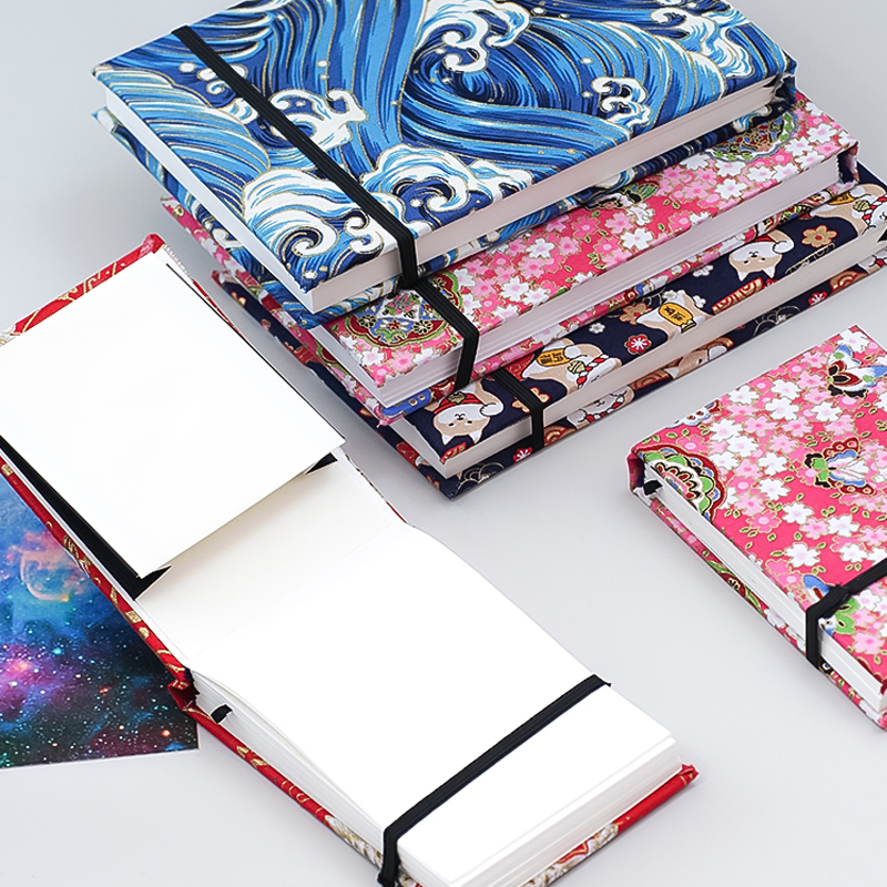 Japan 300g Cotton Watercolor Paper Drawing Book 200x135mm Hot Stamping Sketchbook Painting Travel Hand Book Sketch Pad