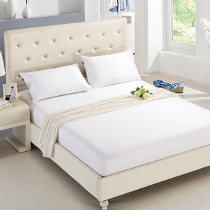 Home Textile Bedsheet Couple Mattress Cover Bed Sheet with Elastic Band Bed Linen Cotton Solid Double Queen Fitted Sheet 180x200