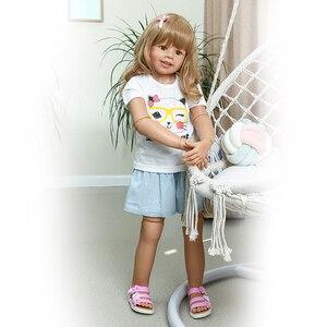 Большая кукла 98 см, оригинал, большой Реборн, кукла для девочки, высокое качество, полный жесткий винил, BJD, силиконовая кукла, модель одежды